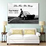 DHLHL Paul Walker Fast Furious Oldtimer Poster