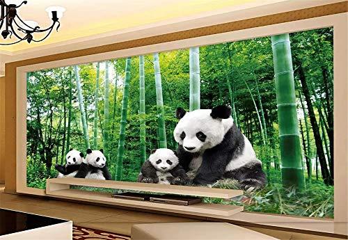 Fototapete 3D Tapete Wandbild National Treasure Giant Panda Forest Foto Tapete 3D Effekt Wandtapete Vliestapete Wandbilder XXL Wanddeko Tapeten