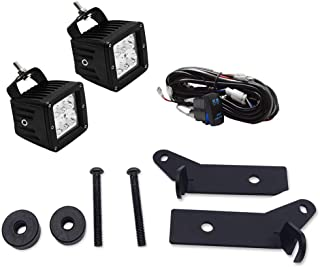 Dasen For 2018-2019 Jeep JL Wranglers A-Pillar Lower Windshield Auxiliary Light Side-Mounted Brackets and 2x 18W 3 inch LED Cube Lights