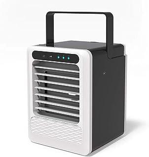 GGLL Mini Aire Acondicionado USB Ventilador de Enfriamiento de Aire Portátil, Humidificador de Aire, Enfriador de Aire Evaporativo con 3 Velocidades,Climatizador de Escritorio Personal