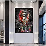 Abstract Colorful Lion Painting Modern Animal Wall Art Picture Cuadros for Artwork Canvas Poster Printed Graphic Home Decoration 40x60cm(16x24in)