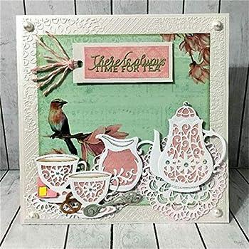 Teapot Metal DIY Cutting Dies Stencil Scrapbook Album Paper Card Embossing~OT