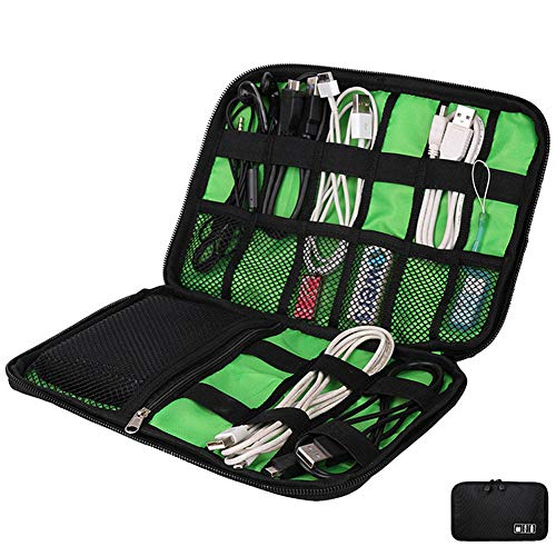 LZVTO Electronic Cable Organizers Travel Electronics Accessories Digital Gadget Storage Case Pouch Tool Bag for USB Charger,Hard Drives, Earphone, Charging Cords