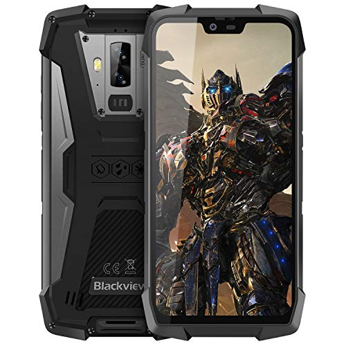 Rugged Cell Phones Unlocked, Blackview BV9700 Pro 4G IP68 Waterproof Drop Proof Smartphones, Octa Core 6GB+128GB 5.8 inches FHD Screen Android 9.0 4380mAh Battery Dual Sim Mobile Phone, Black