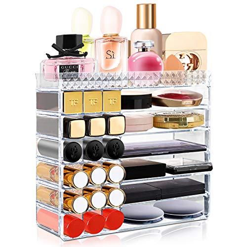 Maquillage Organisateur Acrylique, Aerbee Boite de Rangement Maquillage Transparent Perspex Support...