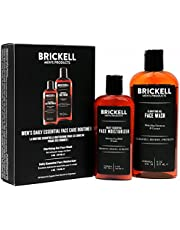 Brickell Men's Daily Essential Face Care Routine I, Gel Facial Cleanser Wash en Face Moisturizer Lotion, natuurlijk en biologisch
