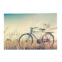パズルBicycle in vintage tone style 500ピース 木製パズルミニ 大人の減圧 絶妙な誕生日プレゼント