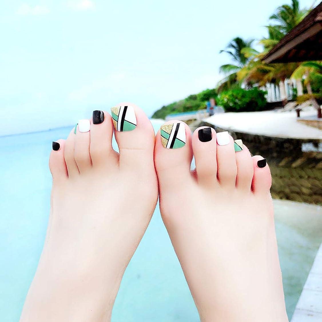 HuangHM 森ガール 可愛い スイート足用 フットネイルチップ 全3色 親指足ネイルシールつけ爪 付け爪 手作りフットチップ ペディキュアチップ 足の爪用ネイルチップ トゥーチップ