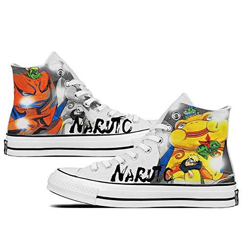 SevenLeo Zapatillas Hombre Hombre Zapatillas Mujer Mujer Unisex Zapatillas Lona Zapatos Casuales Zapatos Zapatos Naruto Anime Shoes 40