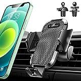 【安定性強化版/業界独創のクリップ2つ付き】車載ホルダー VANMASS スマホホルダー 車 スマホスタンド カー用品 ながら運転と対戦する 安定性満点 ワンタッチ自動開 片手操作 クリップ式 エアコン吹き出し口用 iPhone/Samsung/Sony/LG/Huawei などすべてのスマホに対応(ダークブラック)