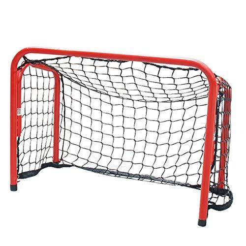 LIULU Sport-Hockey-Tor Eisenrohr Eishockey Torwart Startseite Indoor-Spielwaren (Color : Red, Größe : 65CM*47CM*330CM)