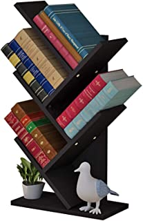 Tree Bookshelf Bookcase Display Storage Rack 5 Shelf Free Standing for CDs and Books Files in Living Room Home Office