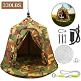 MIMIEYES Hamac Swing Tente Suspendue étanche avec lumières LED Charge maximale 330 LB (Vert)