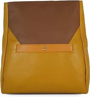 Baggit Autumn/Winter 2020 Faux Leather Women's Backpack Handbag (Yellow) (Slity)