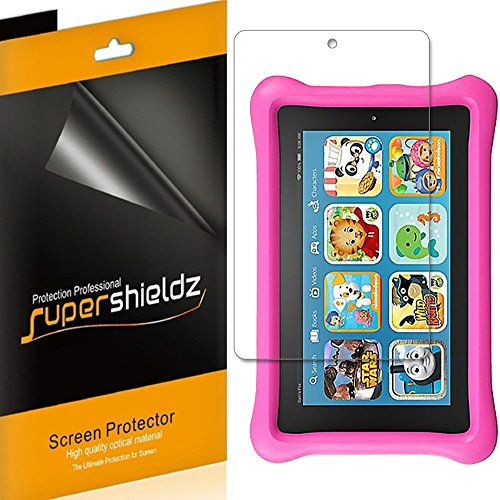 (3 Pack) Supershieldz for All New Fire 7 Kids Edition Tablet 7 inch (9th and 7th Generation, 2019 and 2017 Release) Screen Protector, High Definition Clear Shield (PET)