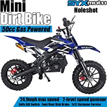SYX MOTO Kids Mini Dirt Bike Gas Power 2-Stroke 50cc Motorcycle Holeshot Off Road Motorcycle Holeshot Pit Bike, Pull Start...