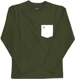 (ショット) Schott ロングスリーブ レザー ワンスター ポケット Tシャツ ロンT カットソー ストレッチ素材 メンズ レディース 3193077