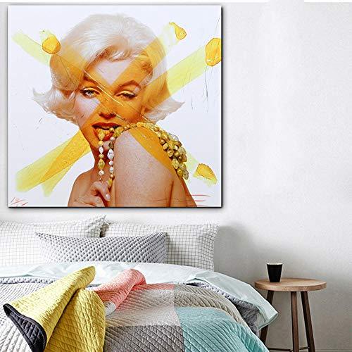 cgsmvp Andy Warhol Marilyn Monroe Bilder Poster Wandkunst Gemälde Drucke auf Leinwand Cuadros Promotion Drucke für Wohnzimmer / 50x50cm-Kein Rahmen