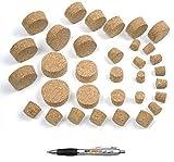 corcho de barril de la mejor oferta, 14 tamaños a elegir, de corcho natural, tapón de corcho puntiagudo, 30 / 35 mm