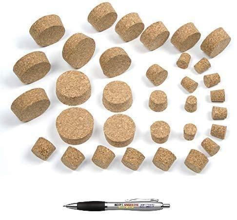 Beste Angebote Fasskorken KORKEN 14 Größen zur Auswahl aus NATURKORK Flaschenkorken NATURKORKEN STOPFEN Spitzkorken Verschluss (33/40 mm)
