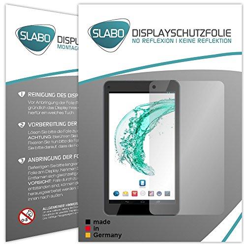 Slabo 2 x Bildschirmschutzfolie für Odys Mira Bildschirmschutz Schutzfolie Folie No Reflexion | Keine Reflektion MATT