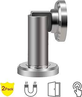 Door Stopper,2 Pack Magnetic Door Stop, Heavy Duty Stainless Steel Door Catch, Holder Your Door, Modern Wall/Ground Mount Door Stopper
