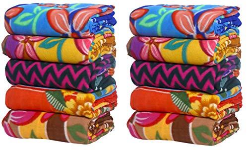 Goyal's ® Blankets Set of 10 - A Step to Help The Flood Affected People Kit Fleece Blanket Cum Bed Sheet