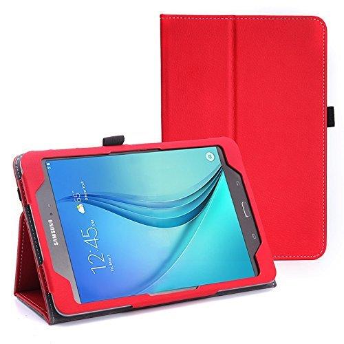 WOFALA Funda para Samsung Galaxy Tab S2 8.0, ultra delgada, ligera, con función atril para tablet Samsung Galaxy Tab S2 de 8 pulgadas, color rojo