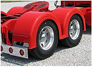 WTI Fiberglass 102 Inch Double Hump Fender With Mounting Brackets (Pair)