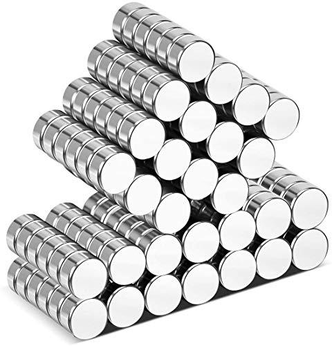 Wukong Neodym-Magnet – 6 mm x 3 mm kleine Kühlschrank-Magnete, 105 Stück, leistungsstarker Magnet für interaktives Whiteboard, Bilder, Basteln, Tür, Karte