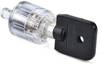 Padlock Zeven kerncilinder Transparant Visible Pick-Cutaway Training vermogen Slotenhandgereedschap Hardware helder