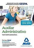 Auxiliar Administrativo del Servicio de Salud del Principado de Asturias (SESPA). Test Parte Específica