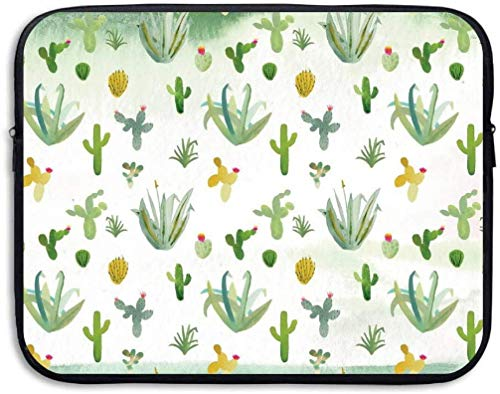 Watercolor Cactus Tablet Sleeve Case Laptop Travel Cover Sleeve Bag Fit 15″ PC Notebook Business Briefcase Messenger Work