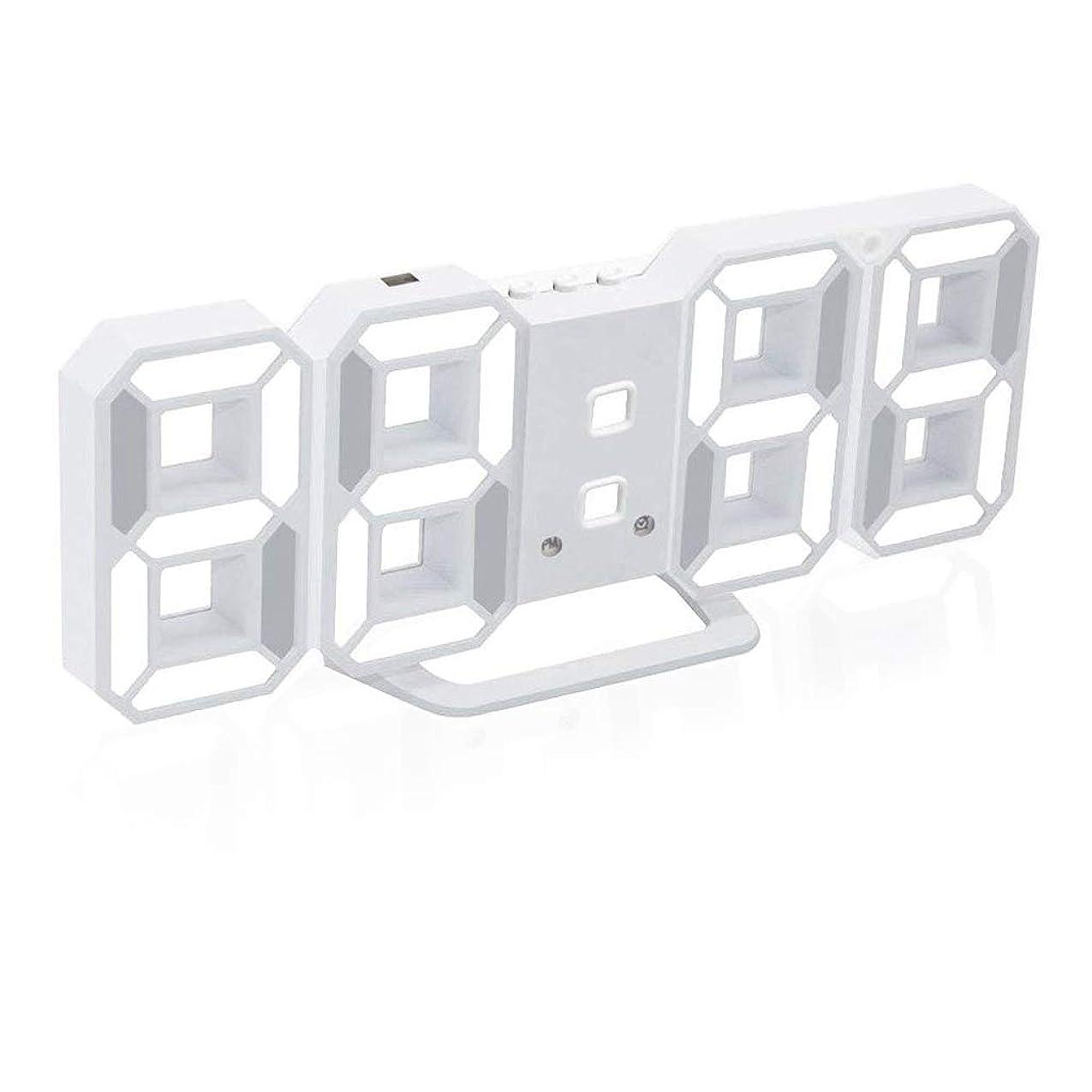 飛び込む断言するフラグラントFormemory 電子時計 目覚まし時計 デジタル LED 高精度 自動点灯 気象計 温度計室内 ホーム 卓上電子温湿度計 時計 レディース メンズ カレンダー 壁掛け 置時計 おしゃれ 可愛い デジタルカラーバリエーション ホワイト