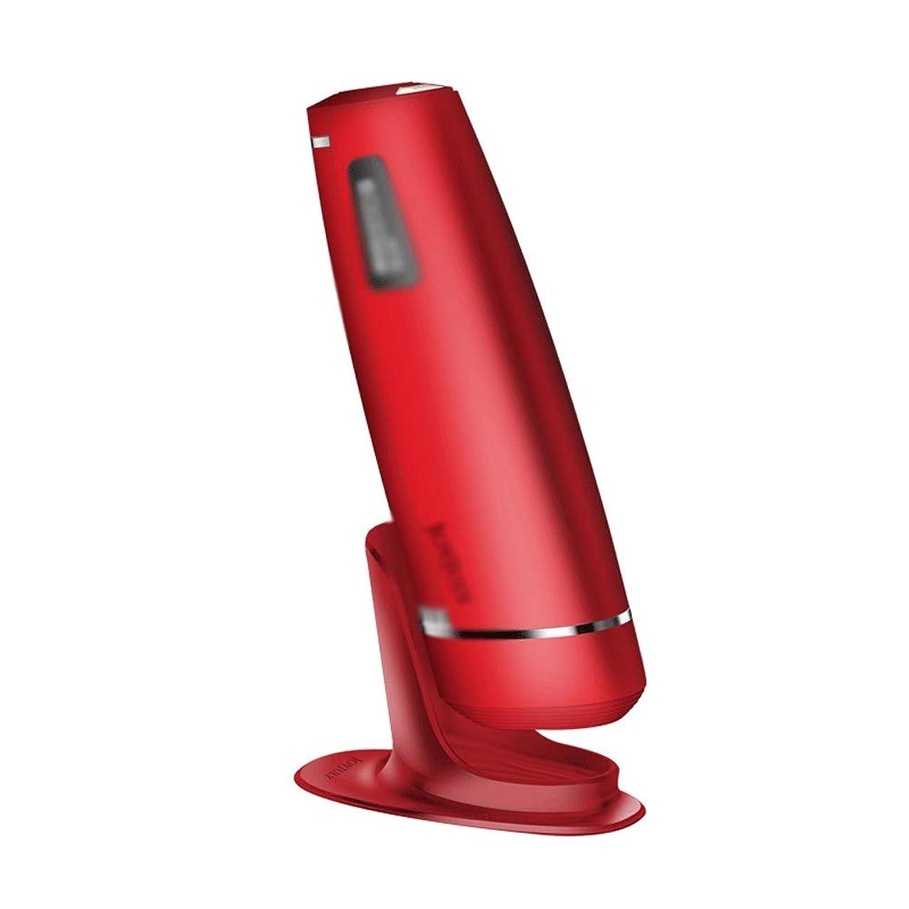 追跡スラッシュ表示XUEYAQI- 電気アイスポイント脱毛器具、家庭用レーザー脱毛アーティファクト、男性と女性の外部脱毛器、痛みのない顔用脱毛器(白) (Color : Red)