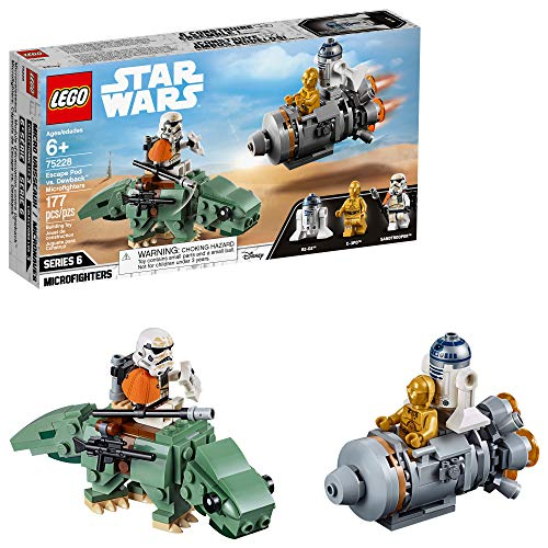 LEGO Star Wars: A New Hope Escape Pod vs Dewback Microfighters 75228 Building Kit (177 Pieces)