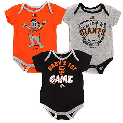 Outerstuff San Francisco Giants Small Fan Baby/Infant 3 Piece Creeper Set 18 Months