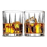 Decantador de Whisky Broma De Juego De 2, Estilo Europeo Exquisito Cóctel Aristocrática Rayas Diseño Vasos De Whisky, Alcohol del Licor For Bourbon Whisky Y Cócteles Pasados de Moda