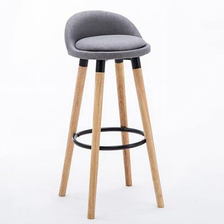 Bar Chair Iron Bar Chair Home Bar Stool Modern Simple Bar Chair Wood Nordic High Stool (color   A)