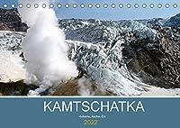 Kamtschatka - Vulkane, Asche, Eis (Tischkalender 2022 DIN A5 quer): Eindruecke der vulkangepraegten Landschaften Kamtschatkas (Monatskalender, 14 Seiten )