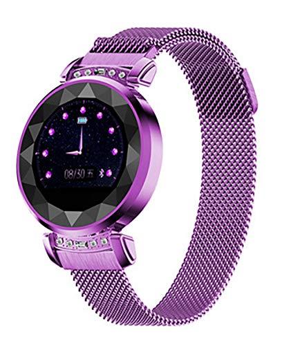 Reloj inteligente, pantalla TFT de 1,04 pulgadas, interfaz USB 2.0, de moda y hermosa, detección de salud, modo multideporte, análisis del sueño para todo el mundo (color: morado)