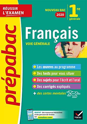 Français 1re générale Bac 2020: inclus oeuvres au...