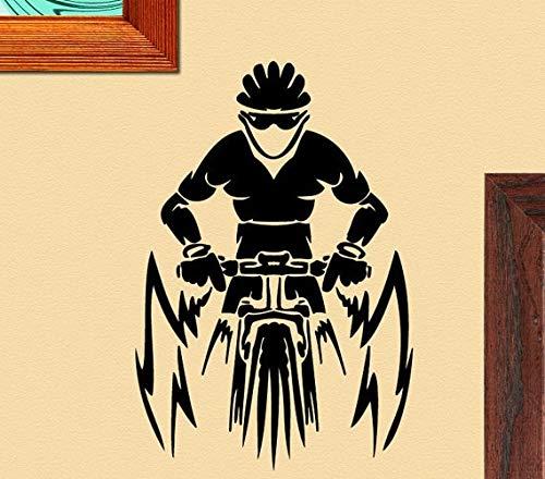 AKmene Mountainbike Fahrer Wandaufkleber Wandtattoo 39X57cm