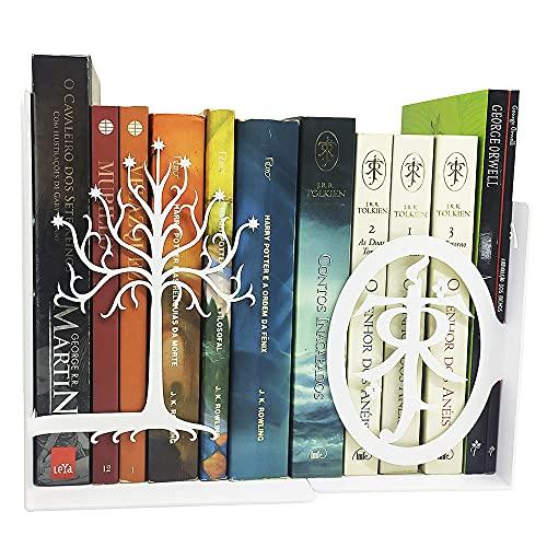 Porta livros O senhor dos anéis Tolkien suporte aparador cd e dvd Aço