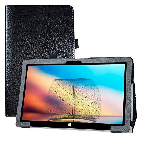LFDZ Funda Jumper EZpad 6 Pro,Soporte Cuero con Slim PU Funda Caso Case para 11.6' Jumper EZpad 6 Pro/EZpad 6s Pro Tablet,Negro
