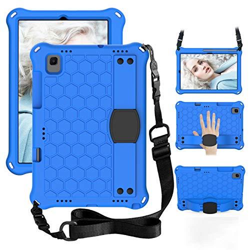 GOZOPO Funda infantil para Galaxy Tab A7 de 10,4 pulgadas (2020), a prueba de golpes, con correa para el hombro, funda protectora para Samsung Galaxy Tab A7 de 10,4 (2020) (azul)