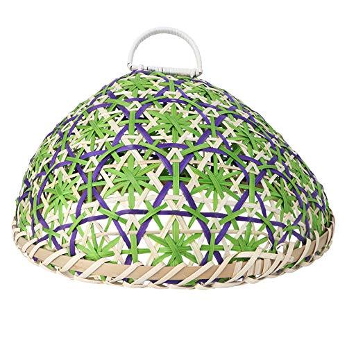 Homoyoyo Cubierta de Plato de Comida Carpas de Comida Paraguas Carpas de Bambú para Comida Que Sirven Cubiertas Protectoras de Alimentos Salpicaduras con Bandeja de Comida para Barbacoa
