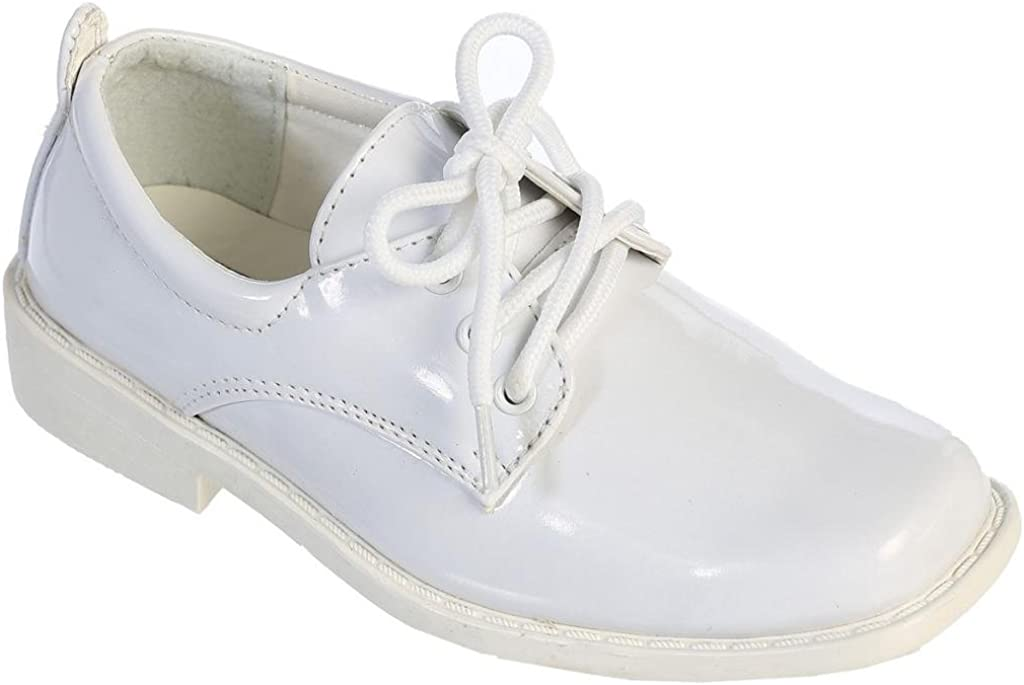 iGirlDress Boys Patent Matte Dress Oxford Special Occasion Christening First Communion Wedding Formal Shoes
