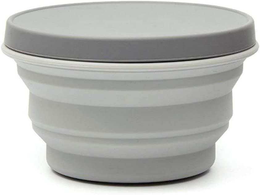 Hiking and Indoor Home Kitchen Office School Student YYCC Collapsible Silicone Bowl with Lid 500ML 1000ML for Outdoor Camping Food-Grade Travel