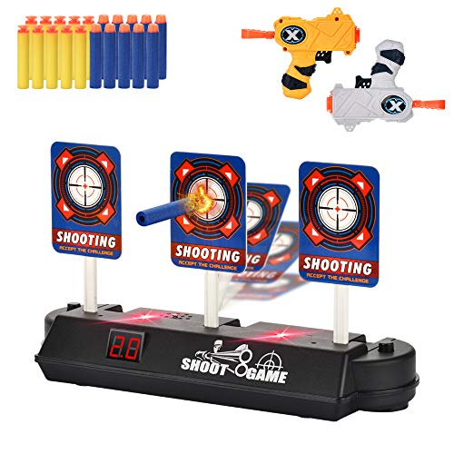 LYOUCI Electric Digital Target and 2 Toys Blaster ,Kids Toys Compatible for Nerf Guns Rival/Blaster/Mega/Jolt(New Edition Toys Age 6+)